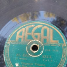 Discos de pizarra: DISCO DE PIZARRA : ORQUESTA TZIGANE - THE BLUE HUNGARIAN BAND : EL DANUBIO AZUL + SOBRE LAS OLAS . Lote 182977160