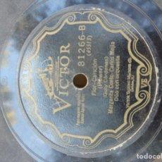 Discos de pizarra: DISCO DE PIZARRA : DUETO MARGARITA CUETO + GARCIA CORNEJO & CARLOS MEJIA . Lote 182977505