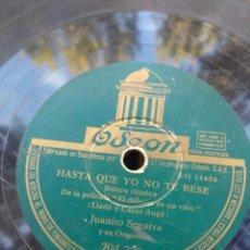 Discos de pizarra: DISCO DE PIZARRA : JUANITO SEGARRA: PONTE BONITA + HASTA QUE YO NO TE BESE. Lote 182977982