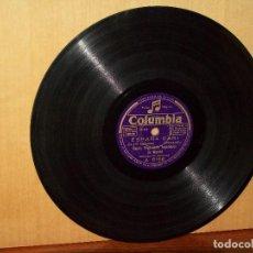 Discos de pizarra: EL PERITONEO + ESPAÑA CAÑI - BANDA REGIMIENTOS INGENIEROS - DIRIGE P. MARQUINA - V. PIZARRA. Lote 183389142