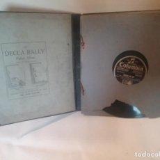 Discos de pizarra: ANTIGUO ESTUCHE DE DISCOS DE PIZARRA PARA PARLOPHONE DECCA . Lote 183737988