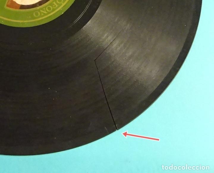 Discos de pizarra: PILAR GASCÓN Y JUSTO ROYO / PILAR GASCÓN .ACOMPAÑAMIENTO DE RONDALLA. ¡¡ ROTO !! - Foto 3 - 184102557