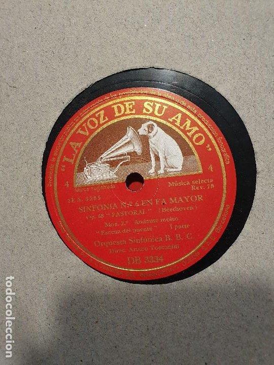 Discos de pizarra: ALBUM 12 DISCOS DE PIZARRA LA VOZ DE SU AMO BEELTHOVEN - Foto 3 - 184207013