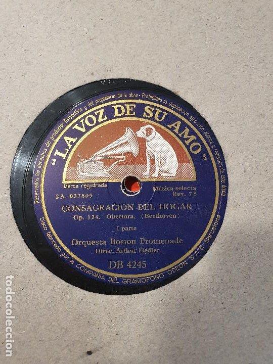 Discos de pizarra: ALBUM 12 DISCOS DE PIZARRA LA VOZ DE SU AMO BEELTHOVEN - Foto 7 - 184207013