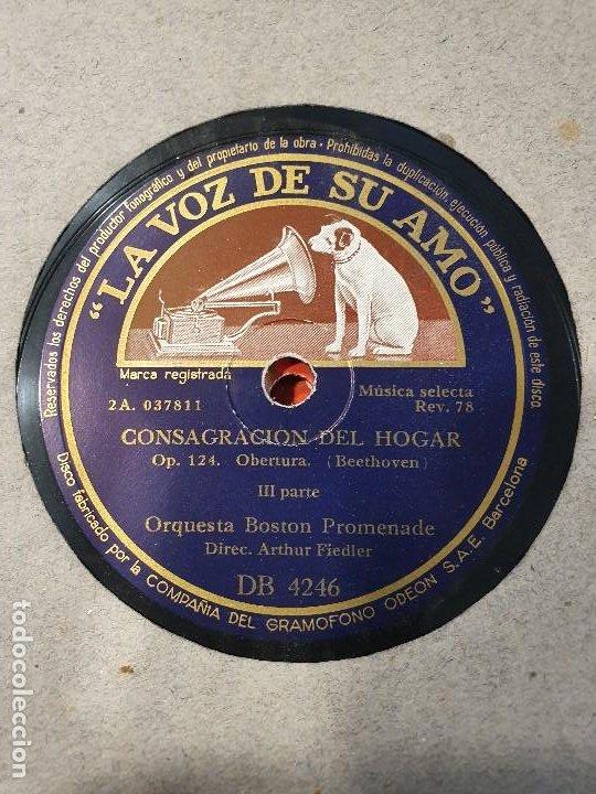 Discos de pizarra: ALBUM 12 DISCOS DE PIZARRA LA VOZ DE SU AMO BEELTHOVEN - Foto 8 - 184207013