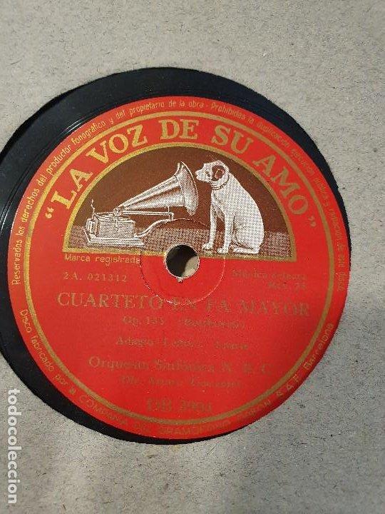 Discos de pizarra: ALBUM 12 DISCOS DE PIZARRA LA VOZ DE SU AMO BEELTHOVEN - Foto 13 - 184207013