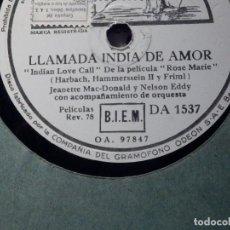 Discos de pizarra: PIZARRA - LA VOZ DE SU AMO - INDIAN LOVE CALL - ROSE MARY - AH SWEET MISTERY OF LIFE - YOUNG HERBET. Lote 184232810