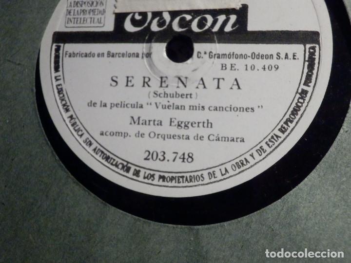 Discos de pizarra: Disco de Pizarra - Odeon 203.748 - Marta Eggerth - Ave María - Serenata - Schubert - Foto 2 - 184232826
