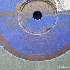 Discos de pizarra: PIZARRA ODEON 182.571 LA COPLA ANDALUZA,JESUS PEROSANZ M CARRERA SEVILLANITO GUITARRA MANOLO BADAJOZ. Lote 184385711