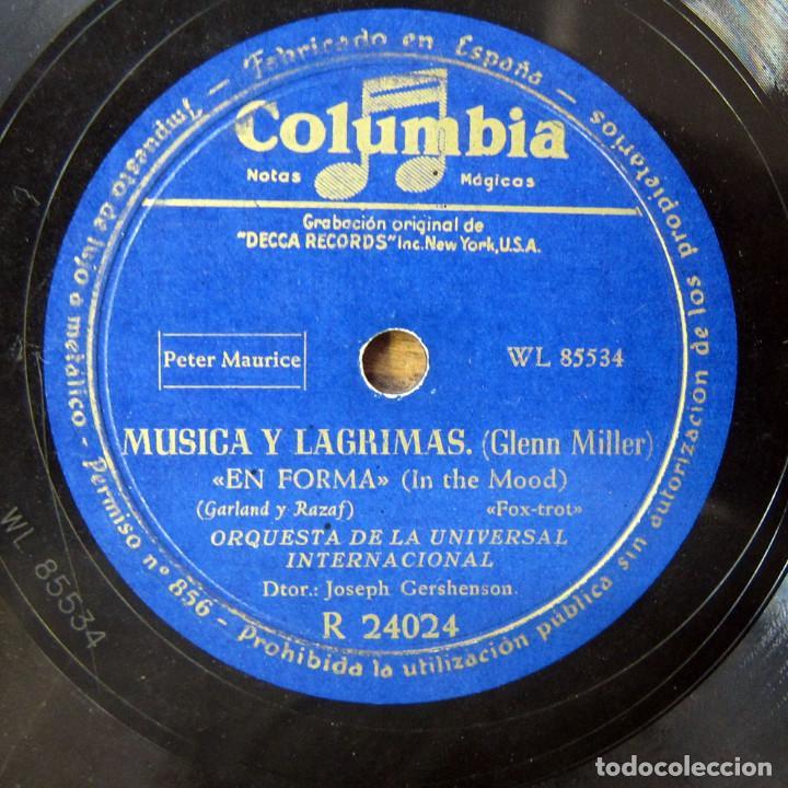 ORQUESTA DE LA UNIVERSAL - EN FORMA, IN THE MOOD / PENNSYLVANIA 6-5000 - GLENN MILLER (Música - Discos - Pizarra - Bandas Sonoras y Actores )