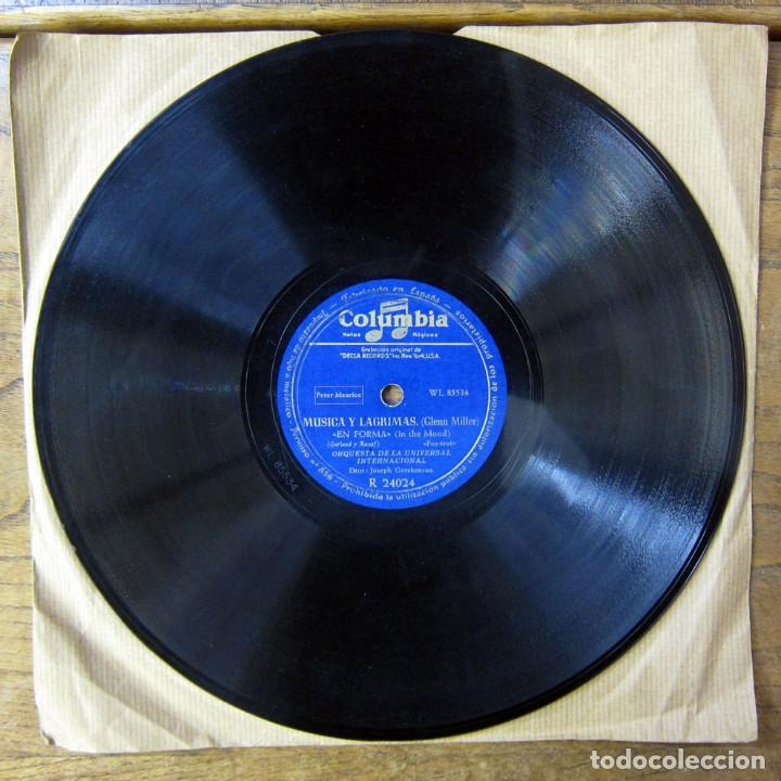 Discos de pizarra: ORQUESTA DE LA UNIVERSAL - EN FORMA, IN THE MOOD / PENNSYLVANIA 6-5000 - GLENN MILLER - Foto 2 - 184469978