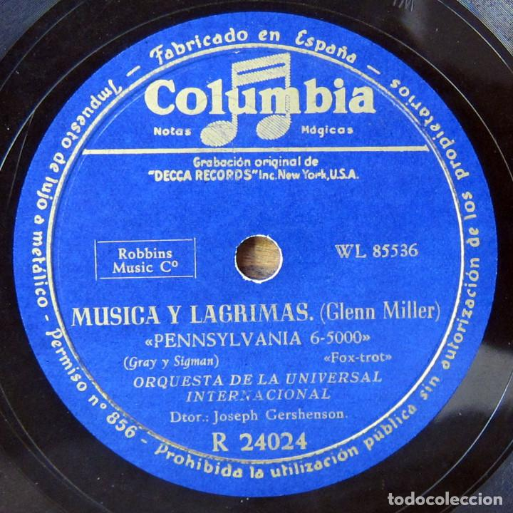 Discos de pizarra: ORQUESTA DE LA UNIVERSAL - EN FORMA, IN THE MOOD / PENNSYLVANIA 6-5000 - GLENN MILLER - Foto 3 - 184469978