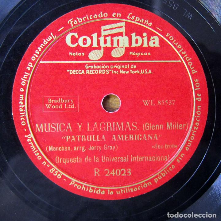 ORQUESTA DE LA UNIVERSAL - ST. LOUIS BLUES / AMERICAN PATROL - GLENN MILLER, MÚSICA Y LAGRIMAS (Música - Discos - Pizarra - Bandas Sonoras y Actores )