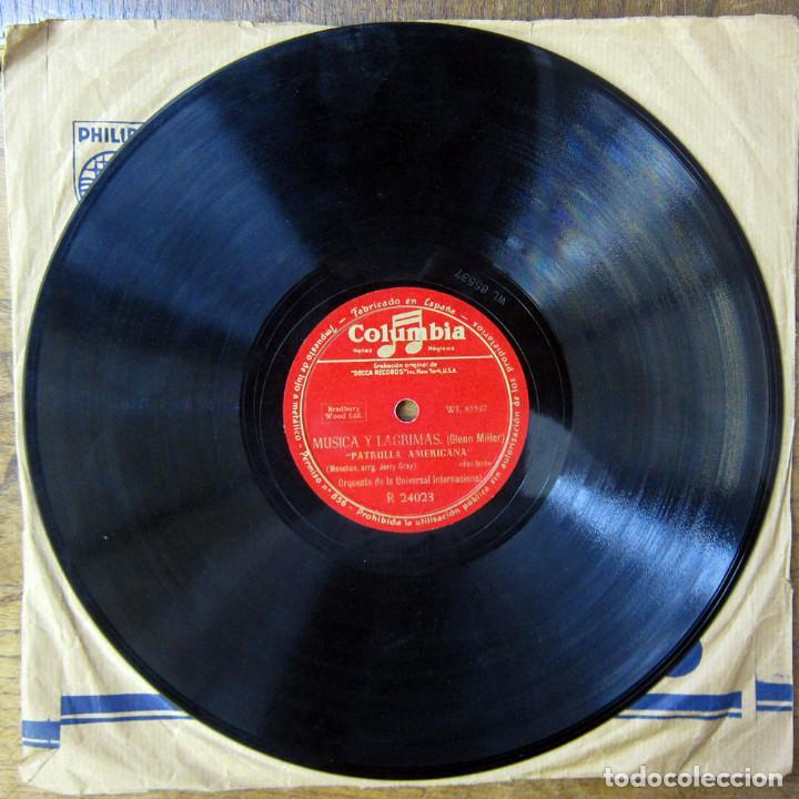 Discos de pizarra: ORQUESTA DE LA UNIVERSAL - ST. LOUIS BLUES / AMERICAN PATROL - GLENN MILLER, MÚSICA Y LAGRIMAS - Foto 2 - 184470182