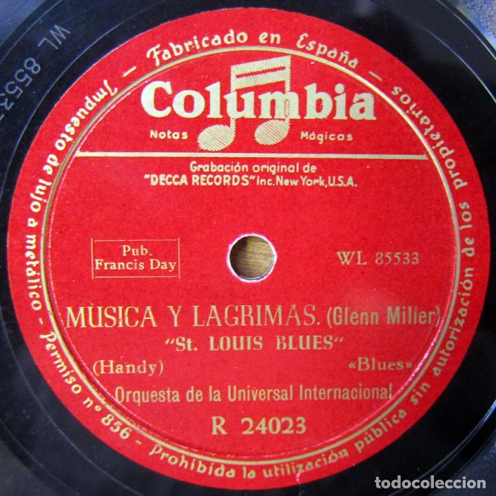 Discos de pizarra: ORQUESTA DE LA UNIVERSAL - ST. LOUIS BLUES / AMERICAN PATROL - GLENN MILLER, MÚSICA Y LAGRIMAS - Foto 3 - 184470182