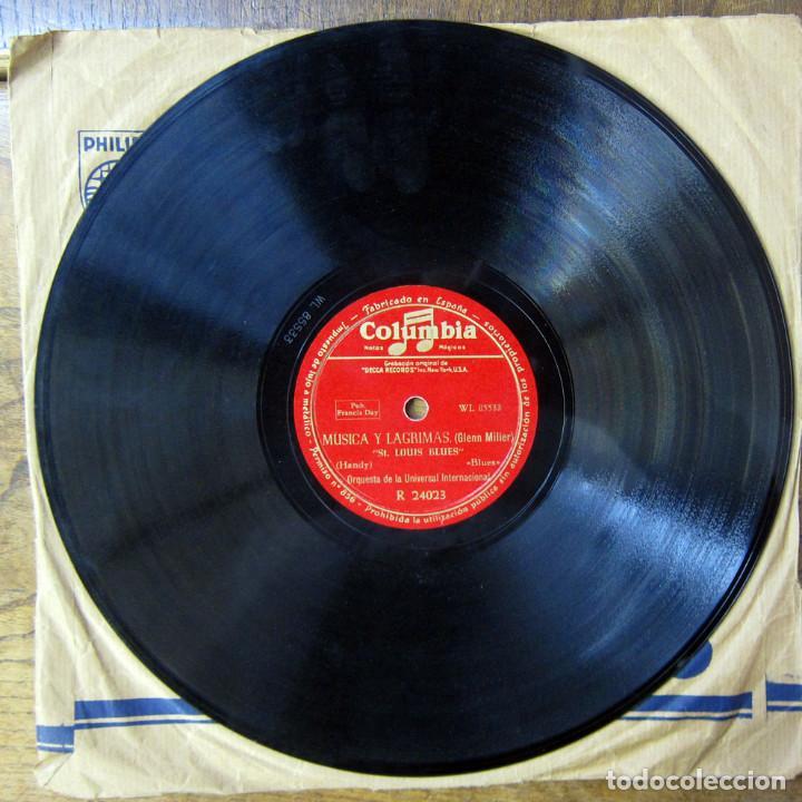 Discos de pizarra: ORQUESTA DE LA UNIVERSAL - ST. LOUIS BLUES / AMERICAN PATROL - GLENN MILLER, MÚSICA Y LAGRIMAS - Foto 4 - 184470182