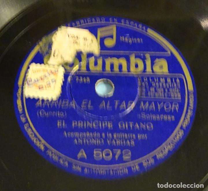Discos de pizarra: DISCO DE PIZARRA EL PRINCIPE GITANO. GUITARRA ANTONIO VARGAS. FANDANGOS. SOLEARES. ROTO - Foto 3 - 184743295