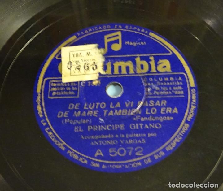 Discos de pizarra: DISCO DE PIZARRA EL PRINCIPE GITANO. GUITARRA ANTONIO VARGAS. FANDANGOS. SOLEARES. ROTO - Foto 4 - 184743295