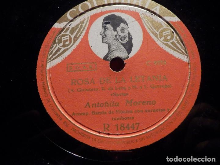 Discos de pizarra: Disco Pizarra - Columbia R 18447 - ANTOÑITA MORENO - Rosa de la Letanía - María de la amargura - Foto 2 - 184743848