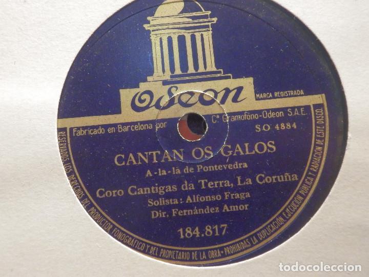 ODEON 184.817 - CORO CANTIGAS DA TERRA, LA CORUÑA, CANTAN LOS GALOS - FOLIADA DE MUGIA (Música - Discos - Pizarra - Clásica, Ópera, Zarzuela y Marchas)