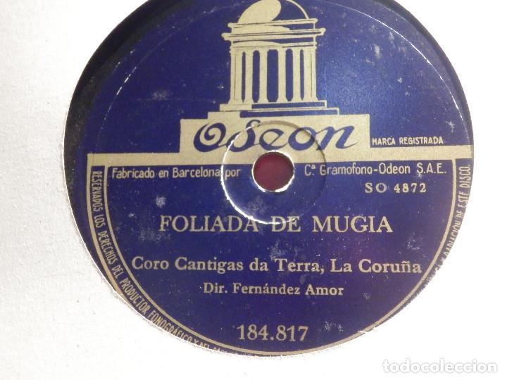 Discos de pizarra: Odeon 184.817 - Coro Cantigas da terra, La coruña, Cantan los Galos - Foliada de Mugia - Foto 2 - 185741108