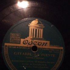 Discos de pizarra: DISCO DE PIZARRA : RAIMUNDO LAMAS, EL RUISEÑOR NAVARRO : LA ROSA / PAMPLONA / GAYARRE / LA FUENTE . Lote 185743792