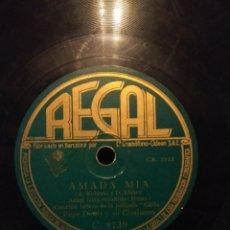 Discos de pizarra: DISCO DE PIZARRA : PEPE DENIS Y SU CONJUNTO : AMADA MIA ( GILDA ) + CORAZON CORAZON . Lote 185744000