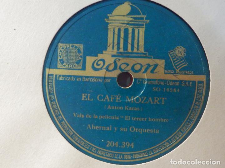 ODEON 204.394 - ABERNAL Y SU ORQUESTA - EL CAFÉ MOZART, HARRY LIME - PELÍCULA EL TERCER HOMBRE (Música - Discos - Pizarra - Bandas Sonoras y Actores )