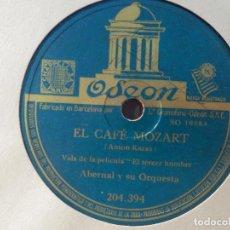 Discos de pizarra: ODEON 204.394 - ABERNAL Y SU ORQUESTA - EL CAFÉ MOZART, HARRY LIME - PELÍCULA EL TERCER HOMBRE. Lote 185769976