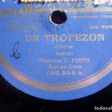 Discos de pizarra: DISCO DE PIZARRA - ODEON - 182.245 - ORQUESTA R. FIRPO - UN TROPEZÓN - MAFFIA -. Lote 186031785
