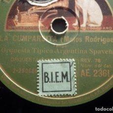 Discos de pizarra: GRAMÓFONO AE 2372- TRIO ARGENTINO IRUSTA-FUGAZOT-RIZUTTI - BESAME EN LA BOCA, EN UN PUEBLITO ESPAÑOL. Lote 186031951