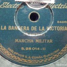 Discos de pizarra: PARLOPHON 84779- LA BANDERA DE LA VICTORIA - MARCHA MILITAR - EL CORTETISTA BUFO - DISCO DE LA RISA. Lote 186125272