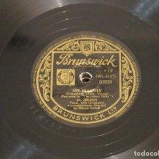 Discos de pizarra: AL JOLSON - MY MAMY (WL 4127) / SONNY BOY (WL 4142) - BRUNSWICK 02830 - EDICIÓN UK - 1947. Lote 186159406