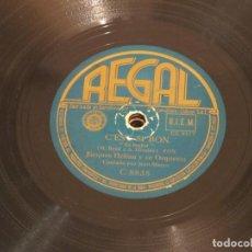Discos de pizarra: JACQUES HELIAN Y SU ORQUESTA - C'EST SI BON (CL 8517) / AU CHILI (CL 8519) - REGAL C 8835. Lote 186160656