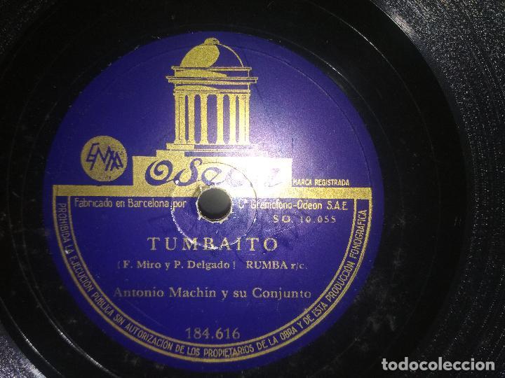 Discos de pizarra: DISCO PIZARRA ODEON ...ANTONIO MACHÍN Y SU CONJUNTO - 10 PULGADAS pepeto - Foto 2 - 186174397