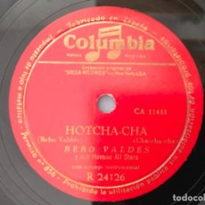 Discos de pizarra: BEBO VALDES Y SUS HAVANA ALL STARS - HOTCHA-CHA / MAMBO CANTABLE - DISCO DE PIZARRA - COLUMBIA . Lote 186387211