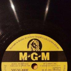 Discos de pizarra: DISCO 78 RPM - MGM - BILLY ECKSTINE - ORQUESTA - RIO POR NO LLORAR - BRISA DE MAR - JAZZ - PIZARRA. Lote 186411660