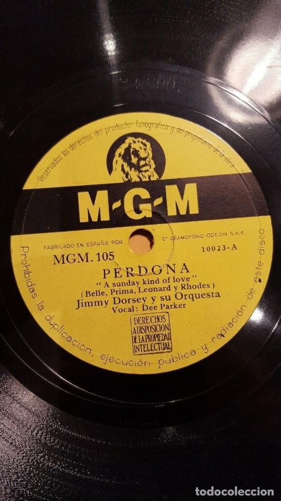 DISCO 78 RPM - MGM - JIMMY DORSEY - ORQUESTA - PERDONA - POTES Y CACEROLAS - JAZZ - PIZARRA (Música - Discos - Pizarra - Jazz, Blues, R&B, Soul y Gospel)