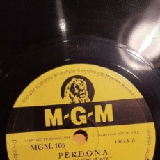 Discos de pizarra: DISCO 78 RPM - MGM - JIMMY DORSEY - ORQUESTA - PERDONA - POTES Y CACEROLAS - JAZZ - PIZARRA. Lote 186432016