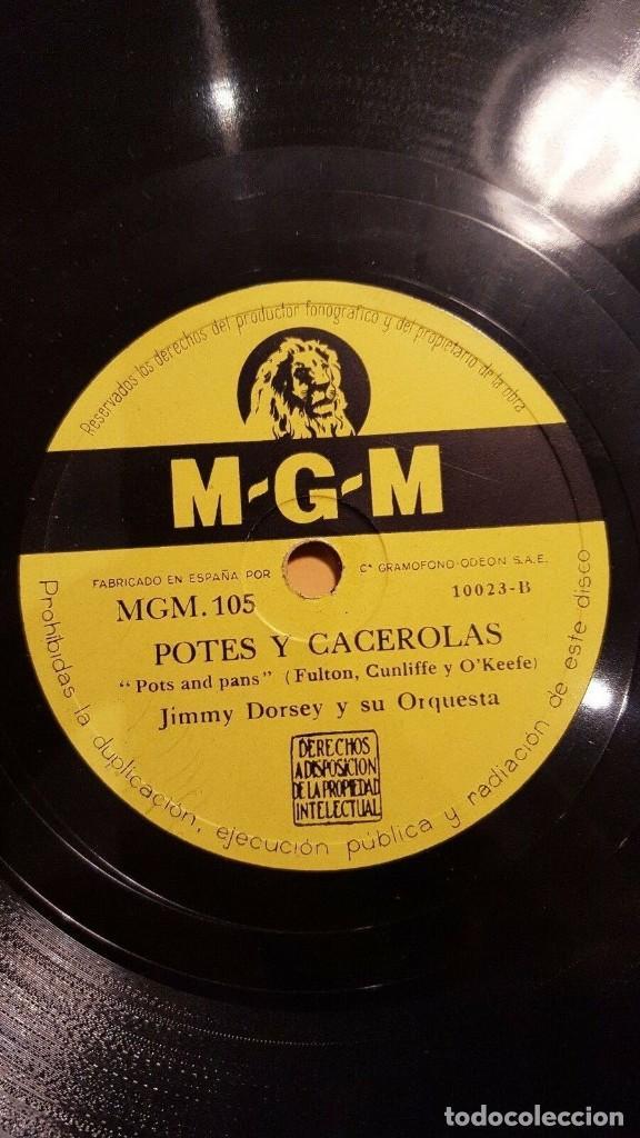 Discos de pizarra: DISCO 78 RPM - MGM - JIMMY DORSEY - ORQUESTA - PERDONA - POTES Y CACEROLAS - JAZZ - PIZARRA - Foto 2 - 186432016