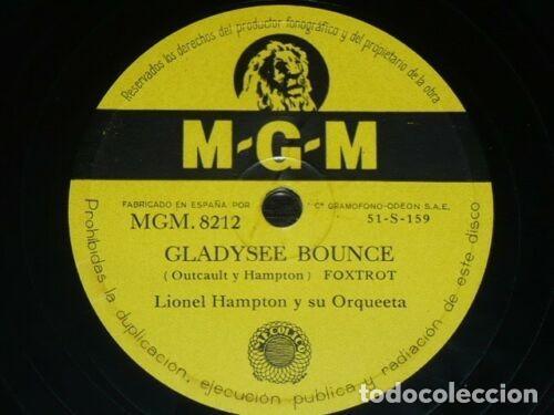 DISCO 78 RPM - MGM - LIONEL HAMPTON - ORQUESTA - COOL TRAIN - GLADYSEE BOUNCE - FOXTROT - PIZARRA (Música - Discos - Pizarra - Jazz, Blues, R&B, Soul y Gospel)