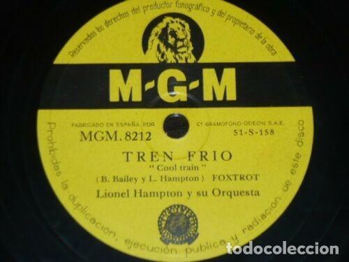 Discos de pizarra: DISCO 78 RPM - MGM - LIONEL HAMPTON - ORQUESTA - COOL TRAIN - GLADYSEE BOUNCE - FOXTROT - PIZARRA - Foto 2 - 186433318