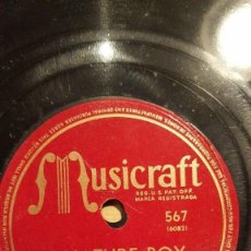 Discos de pizarra: DISCO 78 RPM - MUSICRAFT - SARAH VAUGHAN - NATURE BOY - I´M GLAD THERE IS YOU - JAZZ - PIZARRA. Lote 186435335
