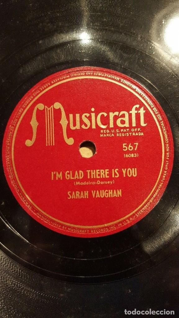 Discos de pizarra: DISCO 78 RPM - MUSICRAFT - SARAH VAUGHAN - NATURE BOY - I´M GLAD THERE IS YOU - JAZZ - PIZARRA - Foto 2 - 186435335