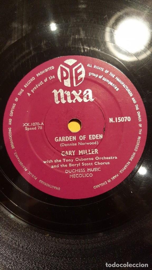 DISCO 78 RPM - NIXA - GARY MILLER - TONY OSBORNE ORQUESTA - GARDEN OF EDEN - JAZZ - PIZARRA (Música - Discos - Pizarra - Jazz, Blues, R&B, Soul y Gospel)