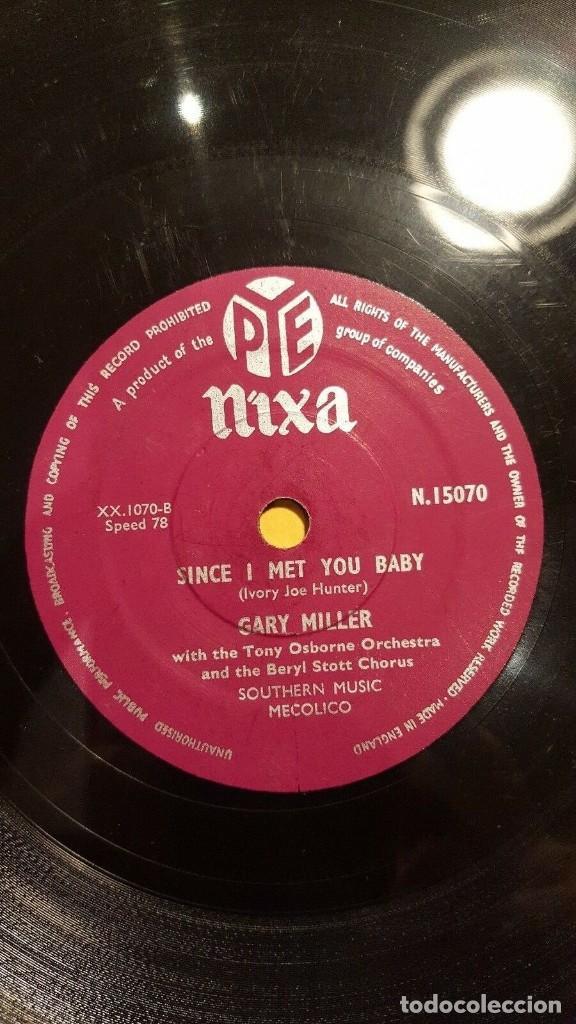 Discos de pizarra: DISCO 78 RPM - NIXA - GARY MILLER - TONY OSBORNE ORQUESTA - GARDEN OF EDEN - JAZZ - PIZARRA - Foto 2 - 186436650
