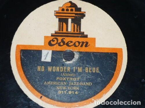 Discos de pizarra: DISCO 78 RPM - ODEON - AMERICAN JAZZ BAND - TROPICAL BLUES - NO WONDER I´M BLUE - FOXTROT - PIZARRA - Foto 2 - 186440073