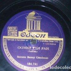 Discos de pizarra: DISCO 78 RPM - ODEON - BENNY GOODMAN - ORQUESTA - OOMPH FAH FAH - CLARINADE - JAZZ - PIZARRA. Lote 186735556