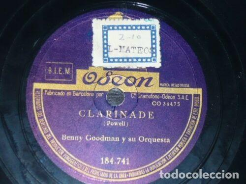 Discos de pizarra: DISCO 78 RPM - ODEON - BENNY GOODMAN - ORQUESTA - OOMPH FAH FAH - CLARINADE - JAZZ - PIZARRA - Foto 2 - 186735556