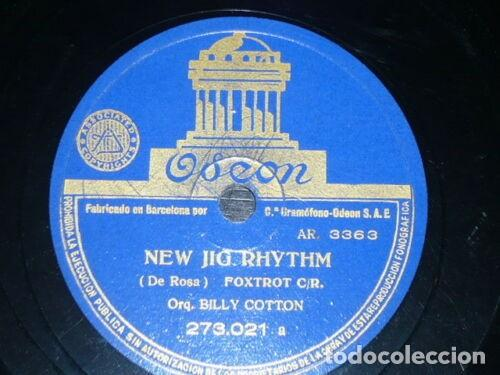 Discos de pizarra: DISCO 78 RPM - ODEON - BILLY COTTON - ORQUESTA - TEMPTATION RAG - NEW JIG RHYTHM - FOXTROT - PIZARRA - Foto 2 - 186749890